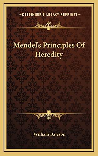 9781163443323: Mendel's Principles Of Heredity