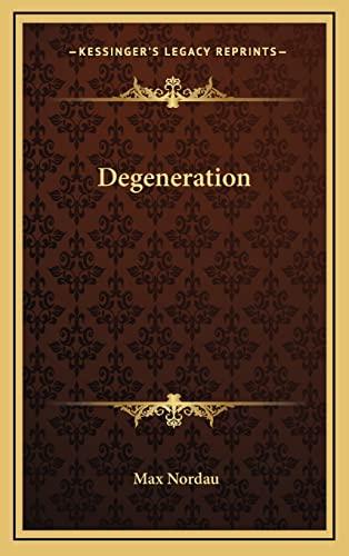 9781163483015: Degeneration
