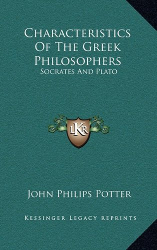 9781163487211: Characteristics of the Greek Philosophers: Socrates and Plato