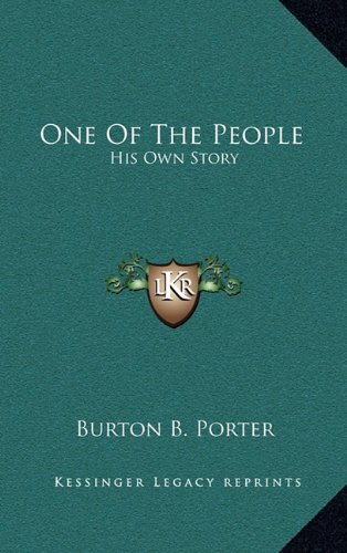 9781163499078: One Of The People: His Own Story