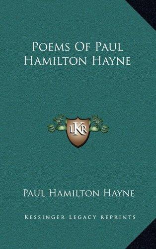 9781163508305: Poems Of Paul Hamilton Hayne