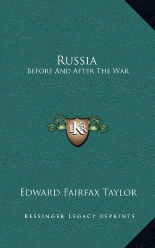 9781163508602: Russia: Before And After The War