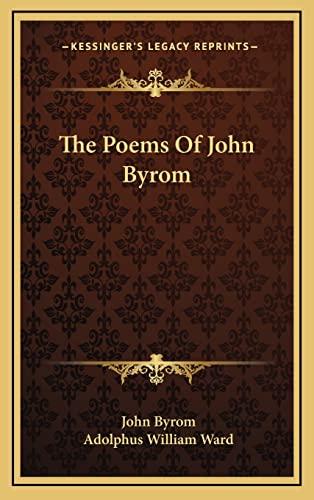 9781163511435: The Poems Of John Byrom