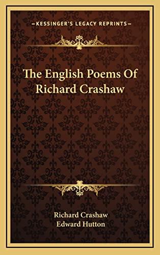 9781163517147: The English Poems Of Richard Crashaw
