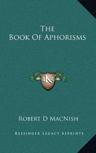 9781163527085: The Book Of Aphorisms