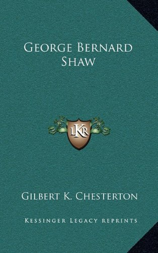 9781163544242: George Bernard Shaw