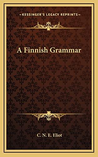9781163576434: A Finnish Grammar