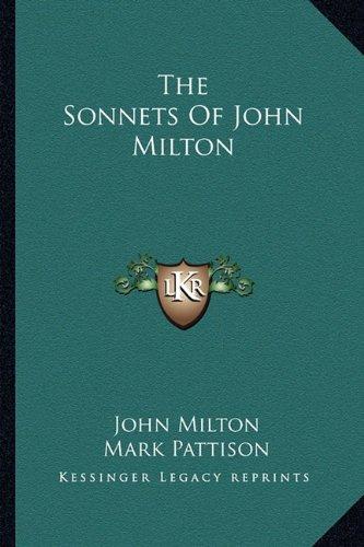 9781163601099: The Sonnets of John Milton