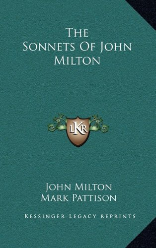9781163660645: The Sonnets of John Milton