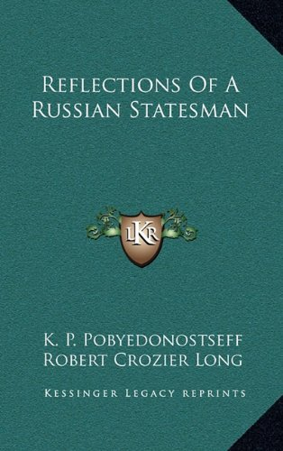 9781163670569: Reflections Of A Russian Statesman