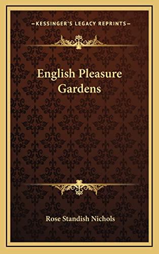 9781163743614: English Pleasure Gardens