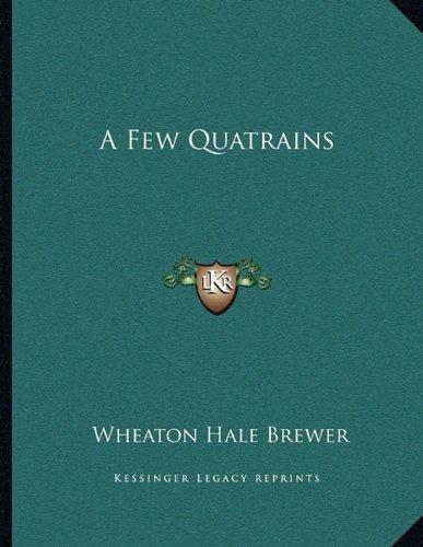 9781163744321: A Few Quatrains