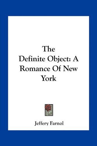 9781163791684: The Definite Object: A Romance Of New York