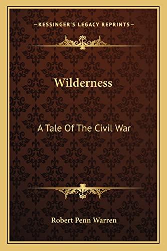9781163804582: Wilderness: A Tale Of The Civil War