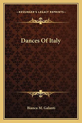 9781163807163: Dances Of Italy