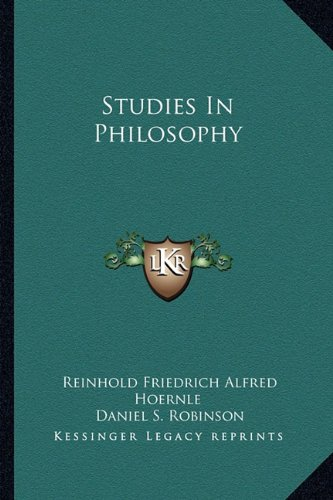 9781163814871: Studies In Philosophy