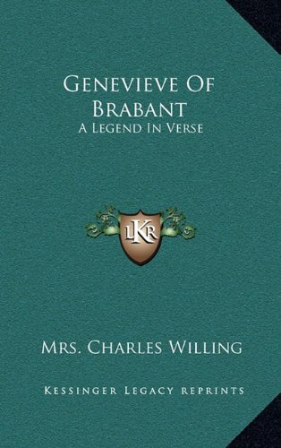 9781163834657: Genevieve of Brabant: A Legend in Verse