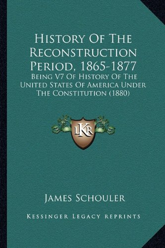 a history of the reconstruction period in america The history of the united states is what happened in the past in the united states, a country in north america native americans have lived there for thousands of years.