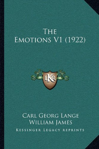 9781164006558: The Emotions V1 (1922)