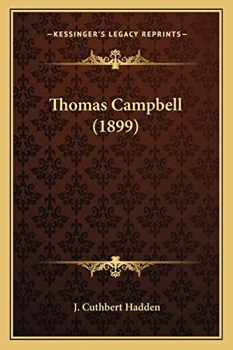 9781164086727: Thomas Campbell (1899)