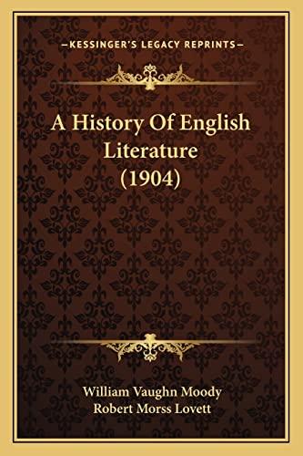 9781164104711: A History Of English Literature (1904)