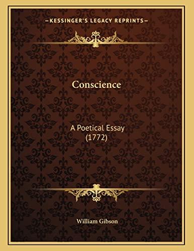 9781164140146: Conscience: A Poetical Essay (1772)