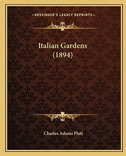 9781164162735: Italian Gardens (1894)