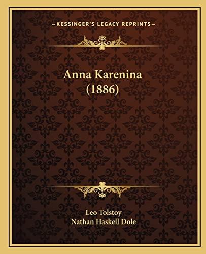 9781164207849: Anna Karenina (1886)