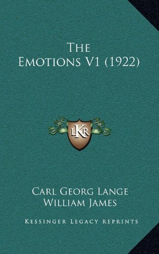 9781164226659: The Emotions V1 (1922)