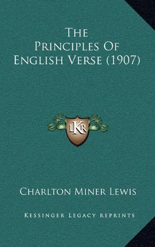 9781164233541: The Principles Of English Verse (1907)