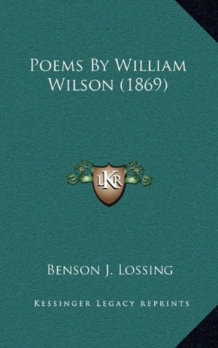 9781164246893: Poems By William Wilson (1869)