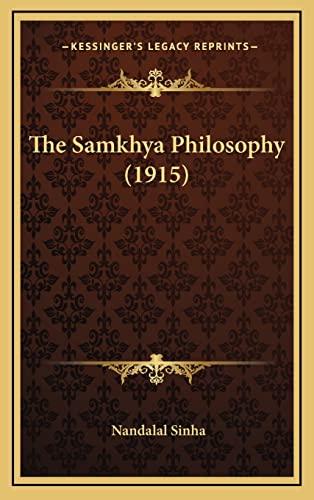 9781164261902: The Samkhya Philosophy (1915)
