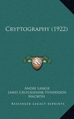 9781164263579: Cryptography (1922)