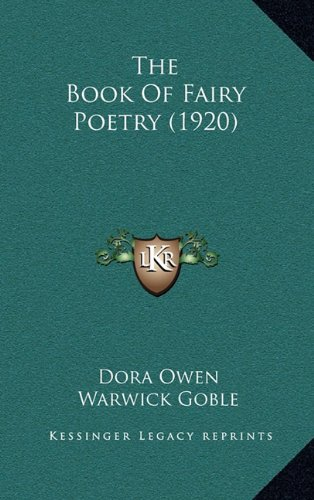 9781164274520: The Book of Fairy Poetry (1920)