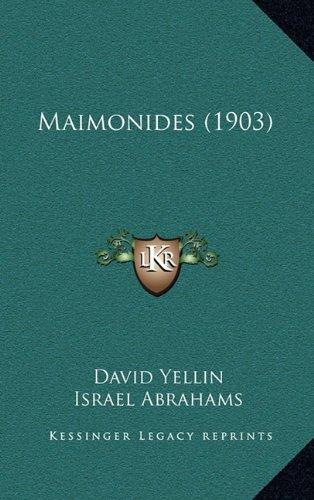 9781164293033: Maimonides (1903)