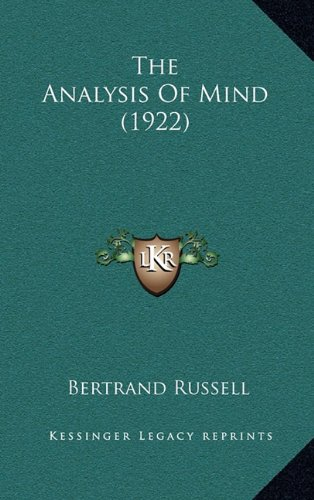 9781164338420: The Analysis of Mind (1922)