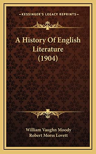9781164421269: A History Of English Literature (1904)