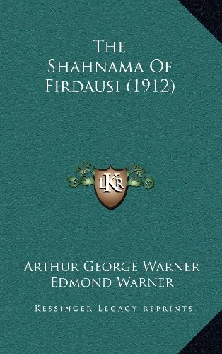 9781164428848: The Shahnama Of Firdausi (1912)