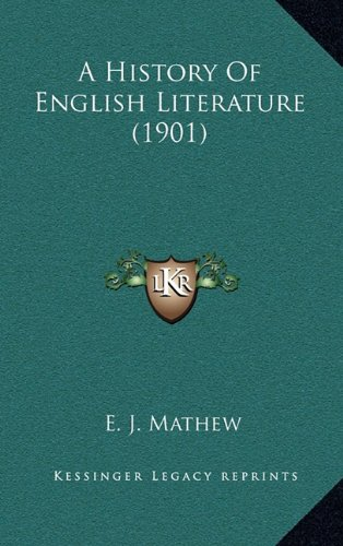 9781164452560: A History Of English Literature (1901)