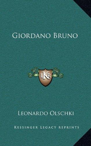 9781164471233: Giordano Bruno