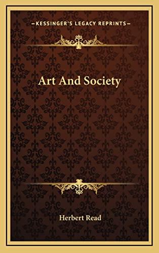 9781164487807: Art And Society