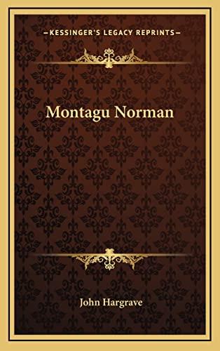 9781164492719: Montagu Norman