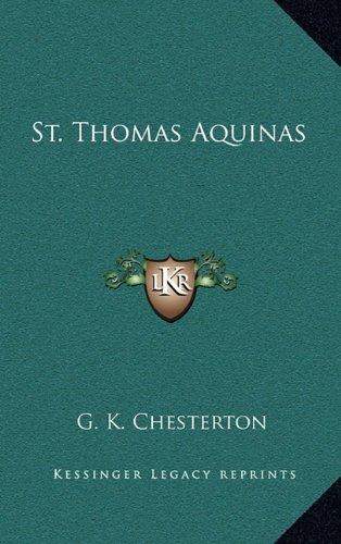 9781164494294: St. Thomas Aquinas