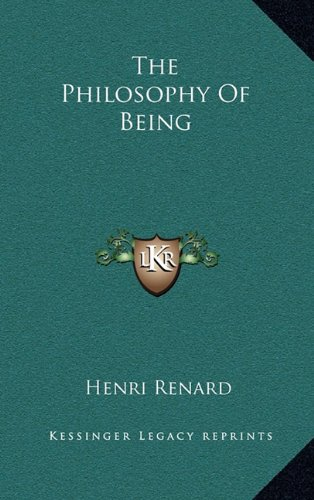 9781164495727: The Philosophy Of Being
