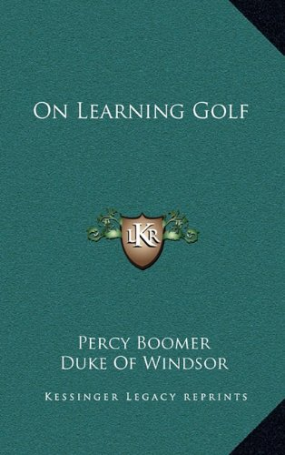 9781164497431: On Learning Golf