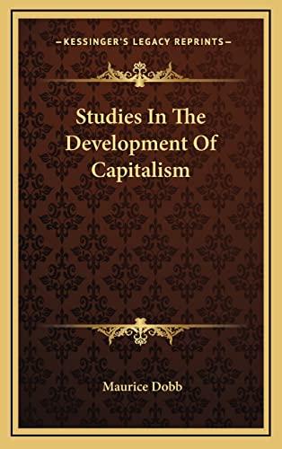 9781164509769: Studies In The Development Of Capitalism
