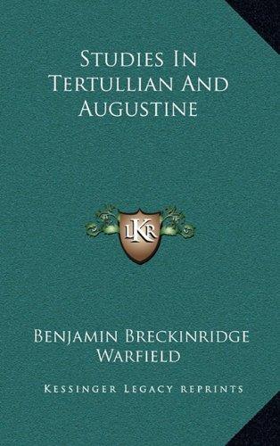 9781164510710: Studies In Tertullian And Augustine