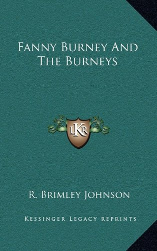9781164511656: Fanny Burney And The Burneys
