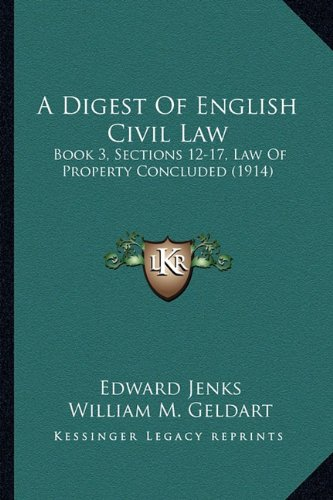 A Digest Of English Civil Law: Book