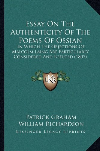 Essay On The Authenticity Of The Poems